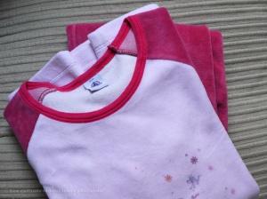 Pyjama velours fille Petit Bateau - taille 12 ans - VENDU